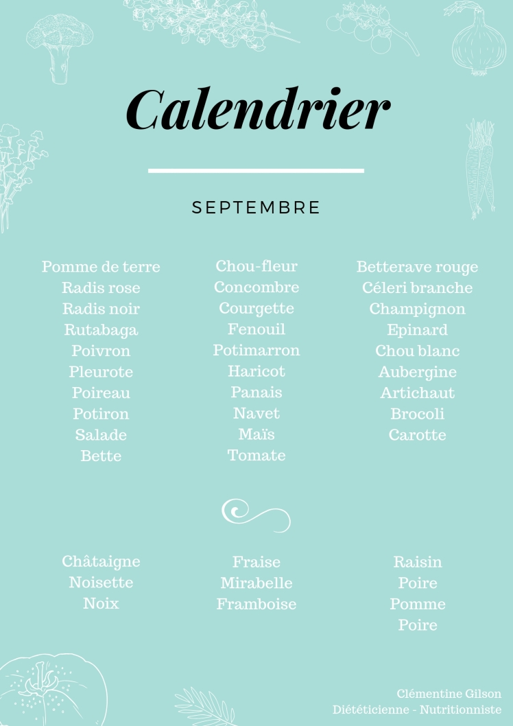 • FRUITS ET LEGUMES septembre •